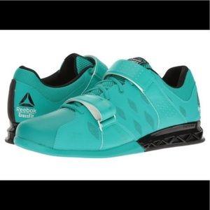 REEBOK CROSSFIT Weight Lifting Green Shoes, SZ 7.5